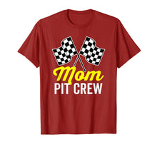 Load image into Gallery viewer, Mom Pit Crew Shirt for Racing Party Costume (Dark)