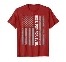 Load image into Gallery viewer, Best Pop pop Ever Vintage American Flag T Shirt for Dad Papa
