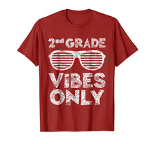 Load image into Gallery viewer, 2nd Grade Vibes Only T-Shirt Second Grade Back To School