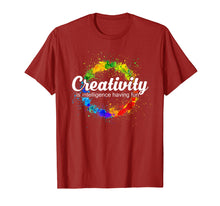 Load image into Gallery viewer, Creativity is intelligence having fun colorful art t-shirt