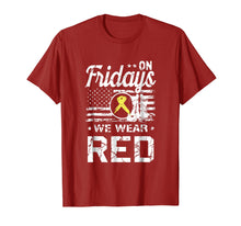 Load image into Gallery viewer, RED Friday TShirt Remember Everyone Deployed Military Gift