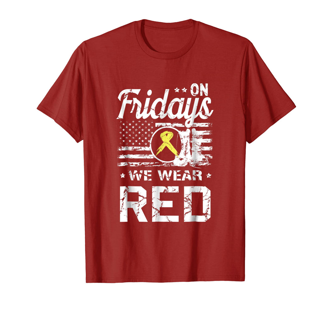 RED Friday TShirt Remember Everyone Deployed Military Gift