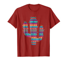 Load image into Gallery viewer, Serape Ethnic Mexican Spanish Style Cactus T-Shirt