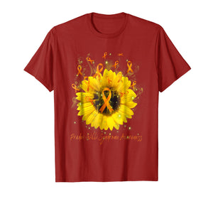 PRADER-WILLI SYNDROME AWARENESS Sunflower Ribbon T-Shirt