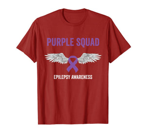 Epilepsy awareness purple ribbon - epilepsy awareness month T-Shirt