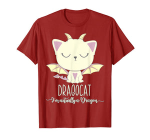 Dragon Cat Shirt Cute Kitten Lover Tee Japanese Monster Gift
