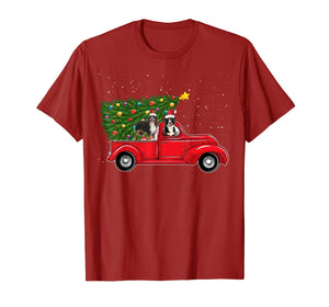 Bernese Mountain Dog Christmas On Red Car Truck Xmas Tree T-Shirt