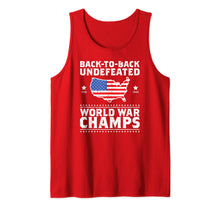 Load image into Gallery viewer, Back To Back Undefeated World War Champs Gift Tank Top