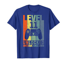 Load image into Gallery viewer, Level 11 Unlocked Awesome Since 2009 11 Birthday Gift T-Shirt