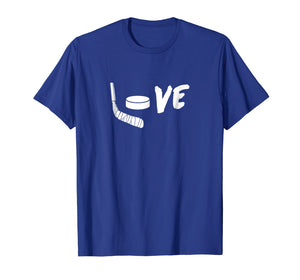 Love Hockey - Ice Hockey Shirt & Gift For Hockey Fans