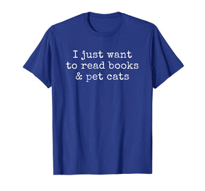 Book Cat Lover Funny Reading Gift T-Shirt
