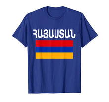 Load image into Gallery viewer, Armenia Flag T-Shirt Cool Armenian Flags Gift Top Tee