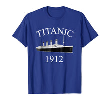 Load image into Gallery viewer, Titanic Sailing Ship Vintage Cruise Vessel 1912 T-shirt