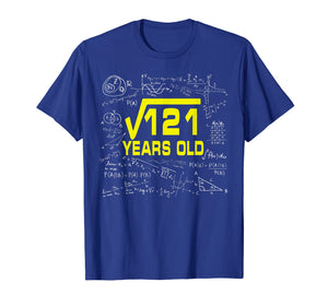 Math Square Root Of 121 11 Year Old 11th Birthday Tshirt