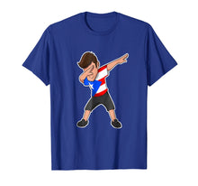 Load image into Gallery viewer, Dabbing Boy Puerto Rico T-Shirt Puerto Rican Flag Tee Shirt