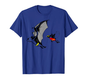 Bat and Robin Funny Super Hero Spoof T-shirt