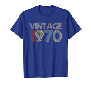 49th Birthday Gift Idea Vintage 1970 T-Shirt Distressed