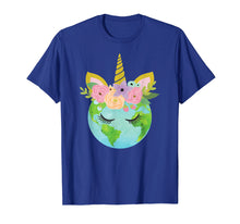 Load image into Gallery viewer, Floral Unicorn Earth - Earth Day T Shirt