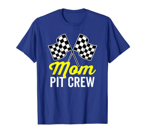 Mom Pit Crew Shirt for Racing Party Costume (Dark)