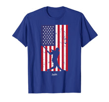 Load image into Gallery viewer, American Flag Baseball Love Distressed Baseball Player Shirt