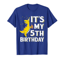 Load image into Gallery viewer, It's My 5th Birthday Shirt Dinosaur Party for 5 year old boy