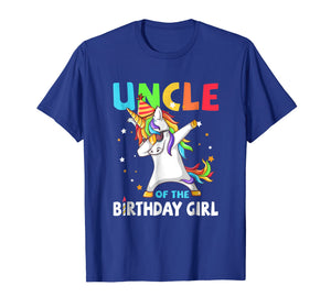 UNCLE Of The Birthday Girl Dabbing Unicorn Party T-Shirt