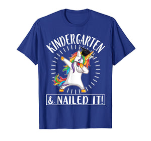 Light Unicorn Senior Dabbing Kindergarten & Nailed It Shirt