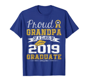 Funny Proud Grandpa Of A Class Of 2019 Graduate T-Shirt Gift