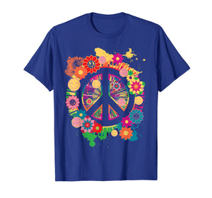 Peace Sign T-Shirt - Colorful Peace Tshirt - 70's Tee Shirt