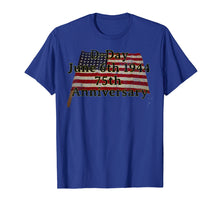 Load image into Gallery viewer, D-Day June 6th 1944 75th Anniversary Commemorative 48 Star  T-Shirt