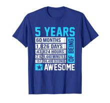 Load image into Gallery viewer, 5th Birthday Shirt 5 Years of Being Awesome