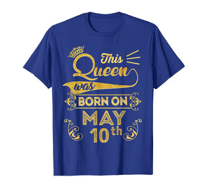 Queen are Born in May 2009 10th Birthday Shirt Girls