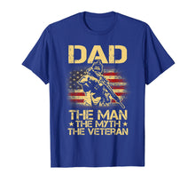 Load image into Gallery viewer, DAD The Veteran The Myth The Legend Vintage USA Flag T shirt