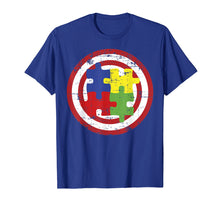 Load image into Gallery viewer, Autism Awareness Shirts Captain Autism Puzzle Piece T Shirt
