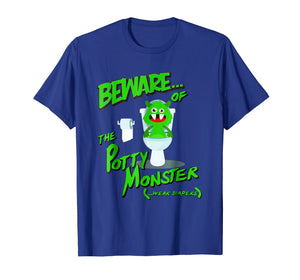 Mens Beware of the Potty Monster - Wear Diapers ABDL T Shirt