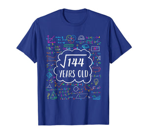 Square Root of 144 12th birthday T-Shirt for 12 years old