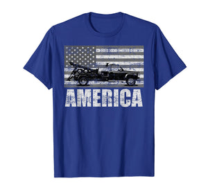 American Tow Truck Driver | Patriotic Pick-up T-shirt Gift