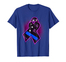 Load image into Gallery viewer, Thin Blue Line Breast Cancer Awareness T-Shirt