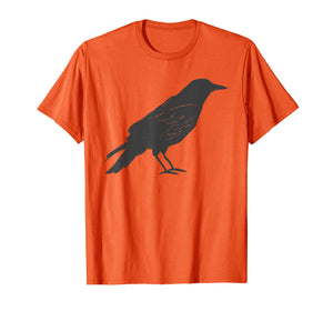 Vintage Hand Drawn Tattoo Style Crow T-Shirt & Gift G999993