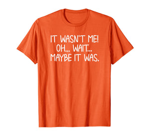 Funny, It Wasn't Me T-shirt. Sarcastic Joke Tee