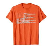 Load image into Gallery viewer, Big American Flag With Machine Guns T-Shirt 2A Flag Shirt
