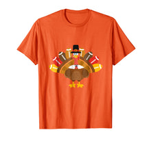 Load image into Gallery viewer, Thanksgiving Tshirt - Turkey Pilgrim and Football Shirt