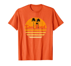 Kona Beach Hawaii Vintage Retro T-Shirt 70s Throwback Surf T