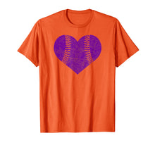 Load image into Gallery viewer, Baseball Heart Shirt Softball Mom Matching Team Gift Purple