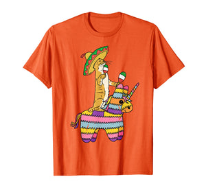 Cinco de Meow Cat Unicorn Pinata T Shirt Tacos Mexico Kids