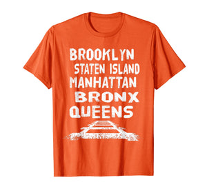 New york city areas five boroughs t-shirt