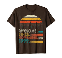 Load image into Gallery viewer, Classic Vintage Made in November 1999 20th Birthday Gift T-Shirt