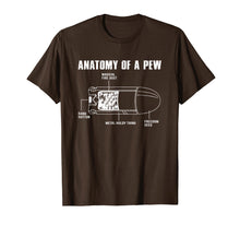 Load image into Gallery viewer, Anatomy Of A Pew Funny Bullet Gun Lovers T-Shirt