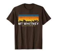 Load image into Gallery viewer, Mount Whitney T Shirt California Vintage Souvenirs CA