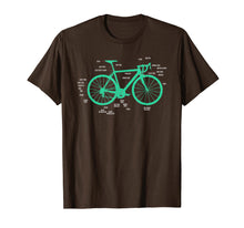 Load image into Gallery viewer, Bike Anatomy Bicycle T-Shirt Bicycle Parts Shirt Gift Idea